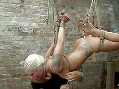 milf, tattoo, blonde, threesome, bondage, bdsm, hanging, deepthroat, blowjob, vibrator, tied up, ropes, vault, executor, lorelei lee, mark davis, hogtied, kinky dollars