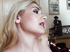 milf, blonde, high heels, blowjob, natural tits, squeezing tits, pussy rubbing, hot body, red lips, mastrubating, christine x, mofos worldwide, mofos cash