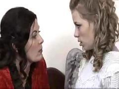 Beautiful mature lesbian seduces teen - magdalene & nicole