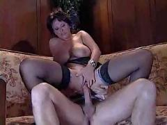 Busty milf sucks and fucks her friend