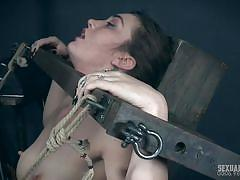 Kat monroe gets a metal hook in her pussy