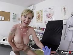 Busty granny gets pov fucked by doctor