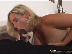 Blonde housewife cheating with bbc
