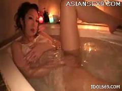 Koyuki hara hot asian slut enjoys a shower and masturbating with toys