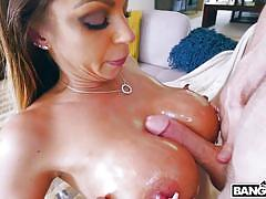 Busty milf with big bubble butt tests my huge penis