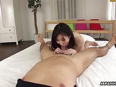 Naughty asian rides and grinds that erect pleasure maker