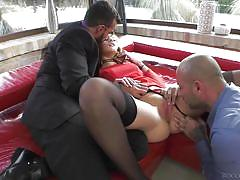Mmf threesome on the set @ rocco's dirty girls #03