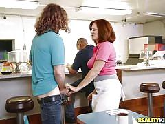 Redhead milf prefers to fuck in public