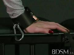 Bdsm xxx caged sub learns the hard way with anal treatment from her master