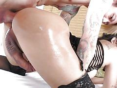 Deep anal for the busty asian tranny maple
