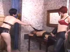 Latex lesbians and spanking