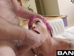 Bang gonzo: anna bell peaks squirts all over in raw fuck ses