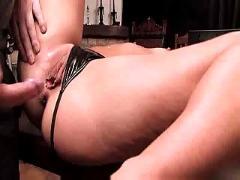 Teen brunette anal intense