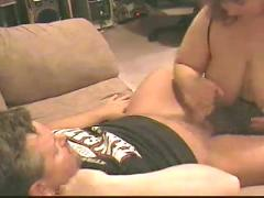 Bbw princess- handjob and facial