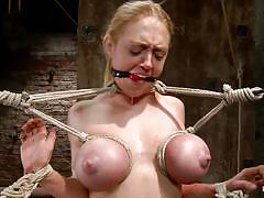 Big boobs darling getting whipped and pleasured