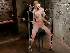 milf, blonde, bondage, bdsm, big tits, punish, whipping, screaming, tied up, sex toy, squeezing tits, ropes, clamps, duct tape, tied tits, ball in mouth, vault, executor, darling, hogtied