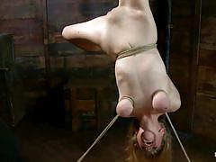 milf, blonde, bondage, bdsm, spanking, big tits, punish, kinky, blowjob, big boobs, hardcore, screaming, deep throat, naked, tied up, undressing, shaved pussy, upside down, ropes, vault