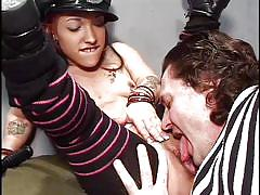 prison, midget, uniform, deepthroat, blowjob, pussy licking, beaten, inmate, jack hammer, bridget powers, midget porn pass, pimproll