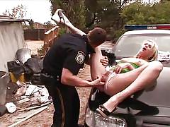 blonde, pussy licking, police, car, spread legs, sex, delinquents, bad girls, on car, playboy tv / dropout delinquents, playboy webmasters