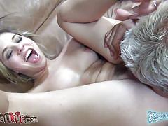 Hot blonde with pink juicy pussy has fun