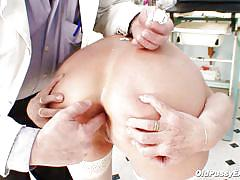 Blonde mature women examined in the ass and vagina