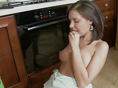 Sweet babe sucks cock and gets fucked