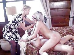 Wild threesome with rope bondage and anal