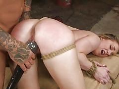 This daring bitch gets whipped and fucked