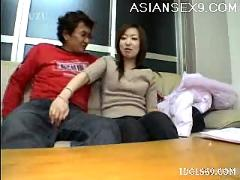 yuu, japanese, model, gives, her, guy, hot, suck