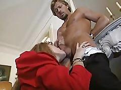 Hot young french wife valy cheats on husband, fucking his married old boss!
