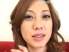 Miho maeshima naughty asian doll gets a pussy poking with her dildo