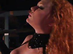 hardcore, tube8.com, redhead, uniform, oral, reverse cowgirl, deepthroat, ass fucking, heels, doggystyle, cum in mouth, swallow