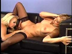 Angel cassidy and laurie wallace blonde lesbian scene