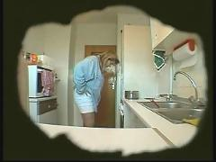 Bbw wife masturbates in kitchen (hidden cam)
