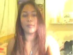 Big tited babe on webcam