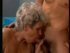 2 grannies with a boy-anal