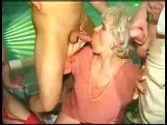 Grannies love orgy-anal