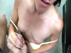 Hot amateur babe gets dirty