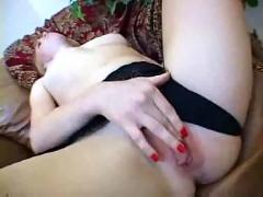 Sexy fire crotch toys her pussy
