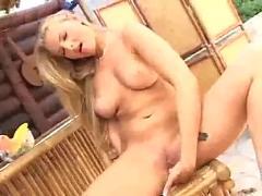 Nikoletta fingers her wet pussy