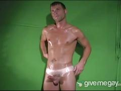 Hot masturbation with sexy cole powers in solo