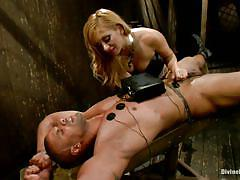 milf, facesitting, blonde, femdom, mistress, pantyhose, pussy licking, electrodes, tied guy, electro bdsm, divine bitches, kink, lea lexis, robert axel, lea lexis, robert axel, divine bitches, kinky dollars