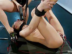 Mistress uses her young sex slave