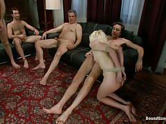 milf, blonde, bdsm, deepthroat, gangbang, domination, tied up, big dicks, ropes, bodage device, ass spanking, bound gang bangs, kink, moretta, moretta, bound gang bangs, kinky dollars