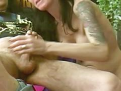 A good blowjob in sextape under the look of my husband