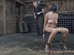 Young bitch fulfilling her bondage desires