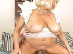 Horny big boobs granny