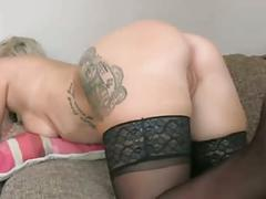 Hot milf getting fucked on sofa