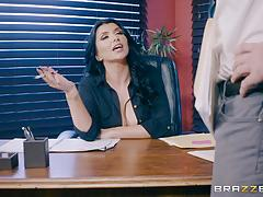 Hot milf romi rain stuffed in the ass in the office