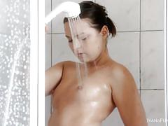 Ivana taking a shower